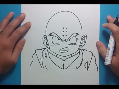 Como dibujar a Krilin paso a paso - Dragon ball | How to draw Krilin - Dragon ball