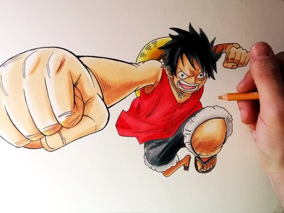 Cómo dibujar a Luffy de One Piece con Lápices Prismacolor | How to Draw Luffy | ArteMaster