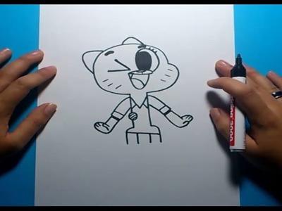 Como dibujar a Nicole paso a paso - El asombroso mundo de Gumball  | How to draw Nicole