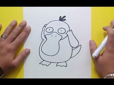 Como dibujar a Psyduck paso a paso - Pokemon | How to draw Psyduck - Pokemon