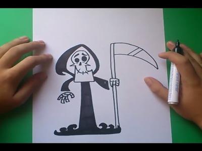 Como dibujar a Puro Hueso paso a paso - Las sombrias aventuras de billy y mandy