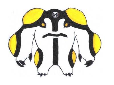 Como dibujar a Rayo de Cañón de Ben 10 Omniverse paso a paso (alienígena)