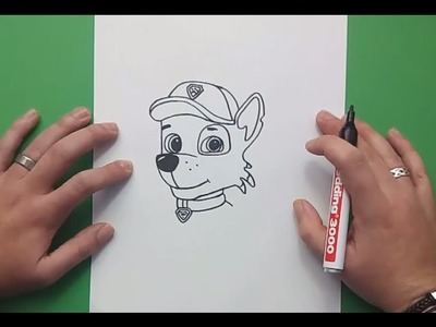Como dibujar a Rocky paso a paso - La Patrulla Canina | How to draw Rocky - Canine Patrol