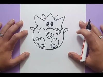 Como dibujar a Togepi paso a paso - Pokemon | How to draw Togepi - Pokemon