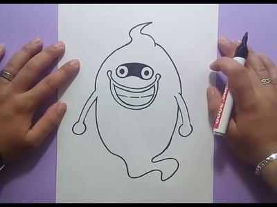 Como dibujar a Whisper paso a paso - Yo Kai Watch | How to draw Whisper - Yo Kai Watch