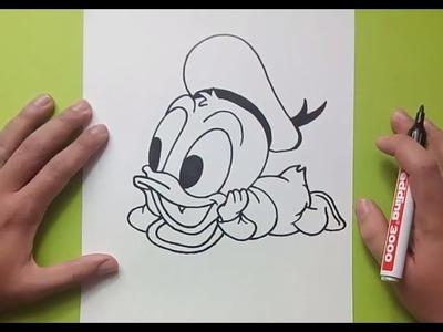 Como dibujar al pato Donald paso a paso 2 - Disney | How to draw Donald duck 2 - Disney