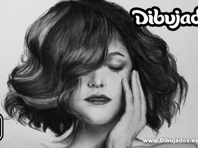 Como dibujar cabello realista a lapiz y carboncillo - Paso a paso - Dibujados