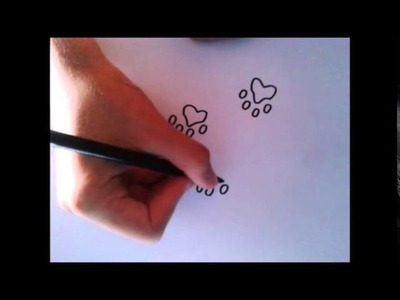 Como dibujar huellas. How to draw footprints.
