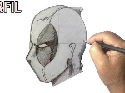 Como Dibujar la Cara de DEADPOOL l paso a paso