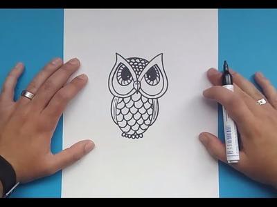 Como dibujar un buho paso a paso 3 | How to draw a owl 3