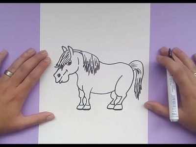 Como dibujar un caballo paso a paso 5 | How to draw a horse 5