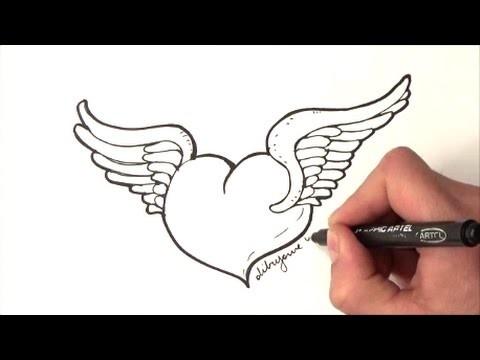 Como Dibujar Un Corazon Con Alas Como Dibujar Un Corazon Alado