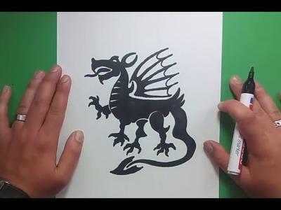 Como dibujar un dragon paso a paso 11 | How to draw one dragon 11