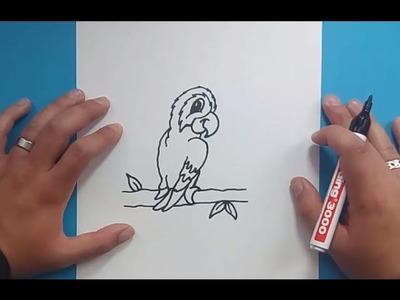 Como dibujar un loro paso a paso 4 | How to draw a parrot 4