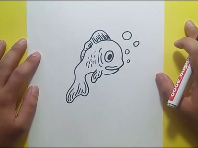 Como dibujar un pez paso a paso 19 | How to draw a fish 19