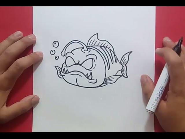 Como dibujar un pez paso a paso 17 | How to draw a fish 17