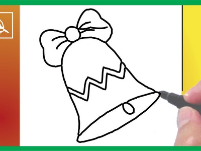 Cómo Dibujar Una Campana De Navidad - Drawing a Christmas Bell | Dibujando