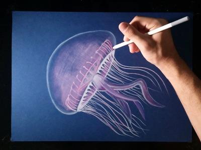 Cómo dibujar una Medusa con lápices de colores