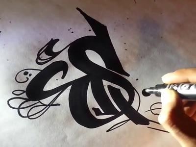 Como hacer letras de graffitis - Dibujar abecedarios pintar graffiti nombres 3D [HD] ZARTIEX