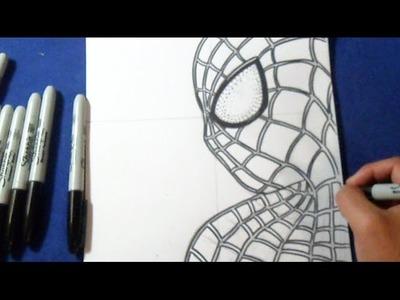 Fácil - Cómo dibujar a Spiderman | How to draw The Amazing Spider-man