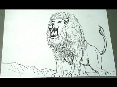 Aprende a dibujar un León africano paso a paso