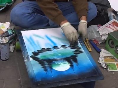 Artistas de la Calle - Arte en Spray lindos trabajos en menos de 10 minutos.!! Chancay, Lima Peru