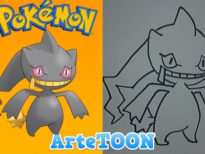 """Como dibujar a Banette paso a paso  