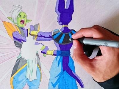 Como dibujar a Bills VS Zamasu (Dragon Ball Super capitulo 59)
