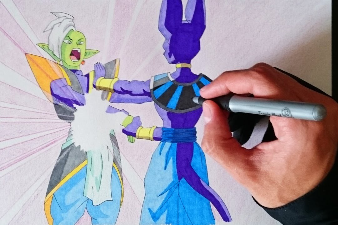 Como Dibujar A Bills VS Zamasu (Dragon Ball Super Capitulo 59