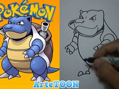Cómo dibujar a BLASTOISE (Pokémon GO) | How to draw Blastoise (Pokemon GO)