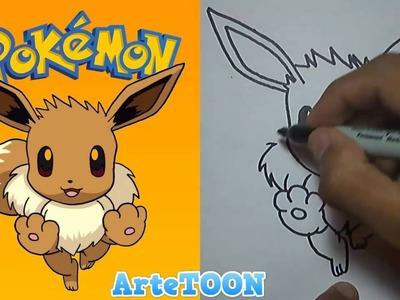 Como dibujar a Eevee paso a paso - Pokemon GO | How to draw Eevee - Pokemon