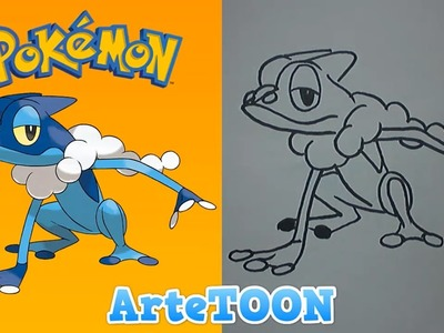 Como dibujar a Frogadier de ash paso a paso | how to draw Frogadier  ash step by step