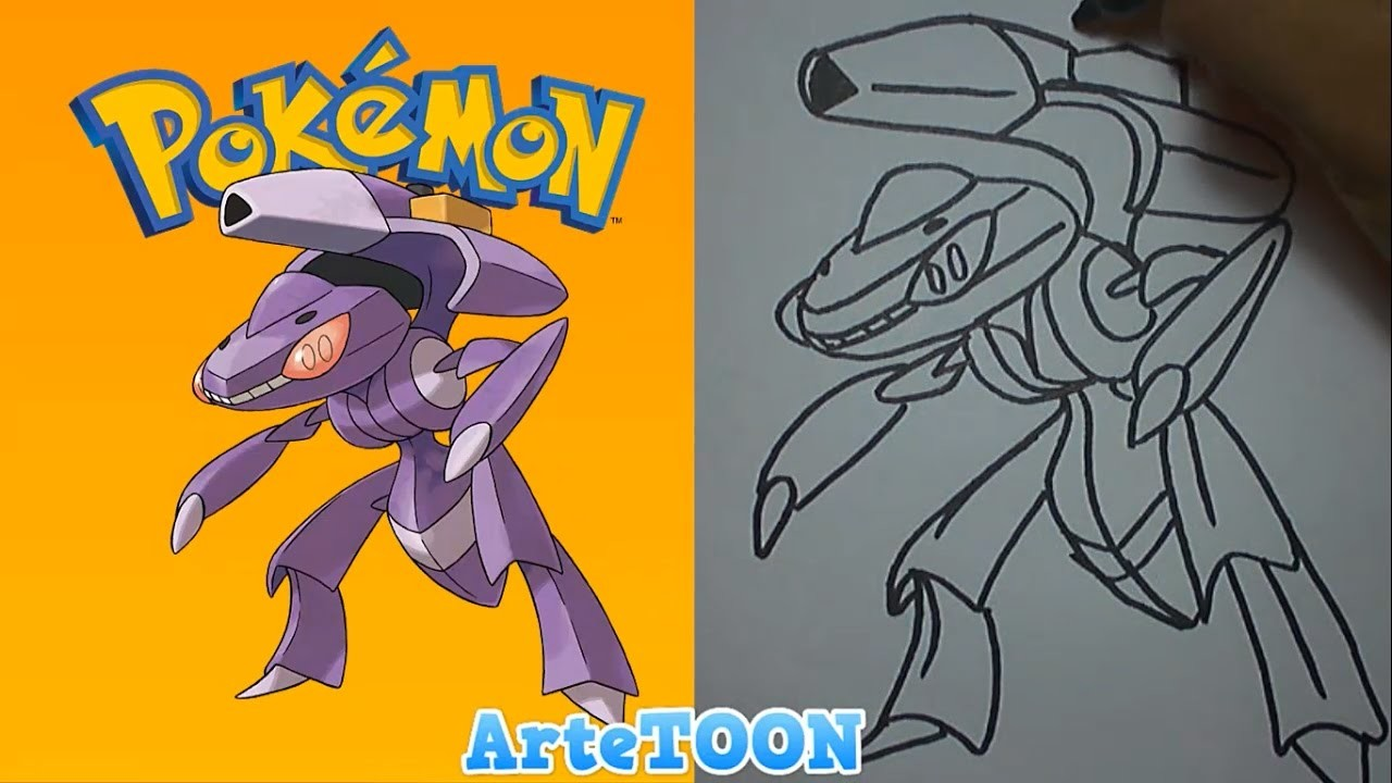 Como dibujar a Genesect paso a paso (Pokemon) - How to draw Genesect