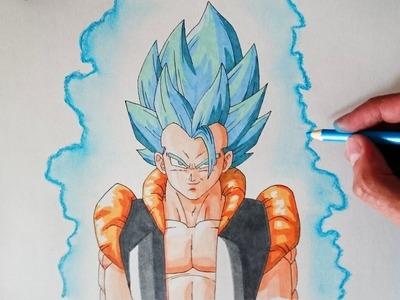 Cómo dibujar a Gogeta Super Saiyan Dios Azul - How to draw Gogeta Super Saiyan God Blue