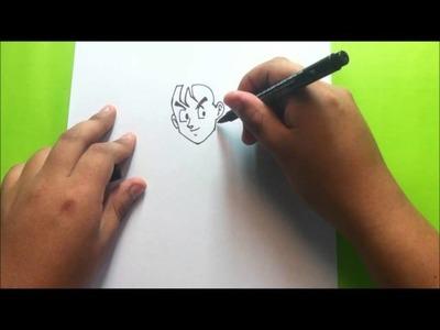 Como dibujar a gohan paso a paso-dragon ball z.How to draw gohan