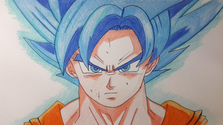 Goku Super Sayayin Dios Azul Para Colorear: Ball, Como Hacer A Goku Ssj Dios Azul(ssj Dios Ssj) De
