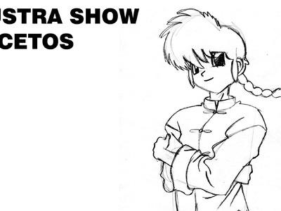 Cómo dibujar a RANMA 1.2 RANMA Y MEDIO Tutorial ILUSTRA SHOW