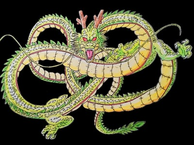 Como dibujar a Shenrong paso a paso - How to draw Shenron step by step