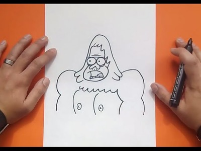 Como dibujar a Skips paso a paso 2 - Historias corrientes | How to draw Skips 2 - Regular show