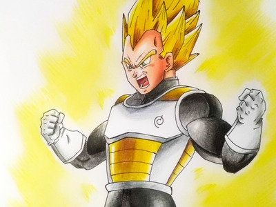 COMO DIBUJAR A VEGETA SSJ | HOW TO DRAW VEGETA SS | DRAGON BALL SUPER