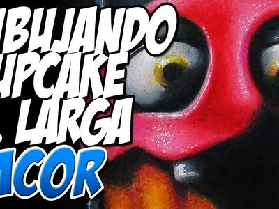 Como Dibujar al Cupcake de Chica - FNAF2 | Version Larga
