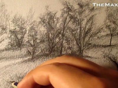 Cómo dibujar bocetos MUY SIMPLES de árboles y vegetación, paisajes HD