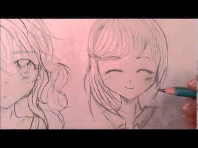 Cómo dibujar cabello anime.manga (femenino).