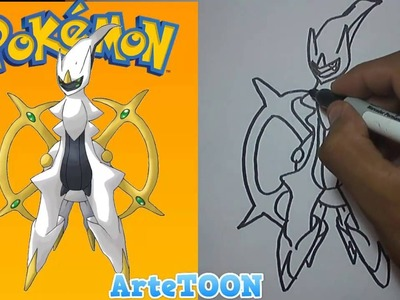 Como dibujar paso a paso a Arceus (Pokemon) - Como Dibujar una Pokeball - How to draw a Arceus