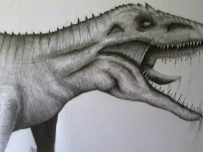 Cómo dibujar un dinosaurio a lápiz paso a paso, dibujando dinosaurios realistas