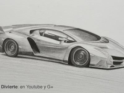 Cómo dibujar un Lamborghini Veneno - Arte Divierte.
