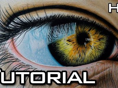 Cómo Dibujar un Ojo Realista Paso a Paso con Lápices de Colores - Tutorial