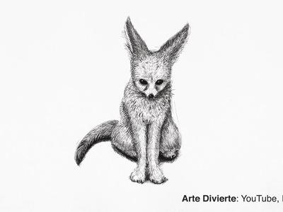 Cómo dibujar un zorro con bolígrafo - Narrado