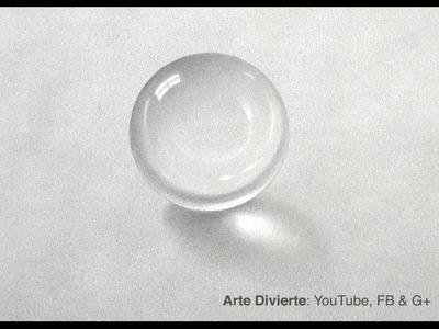 Cómo dibujar una bola de cristal a lápiz - esfera de cristal al grafito