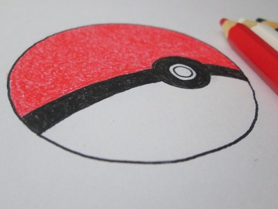 Cómo dibujar una Poké Ball de Pokémon